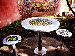 Cascade Place Cast Table + Seats